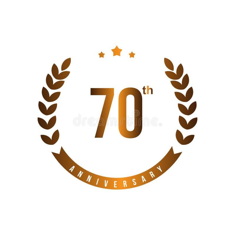 第70个周年传染媒介模板设计例证 向量例证