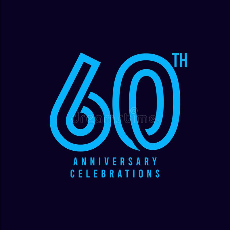 第60个周年庆祝传染媒介模板设计例证 皇族释放例证