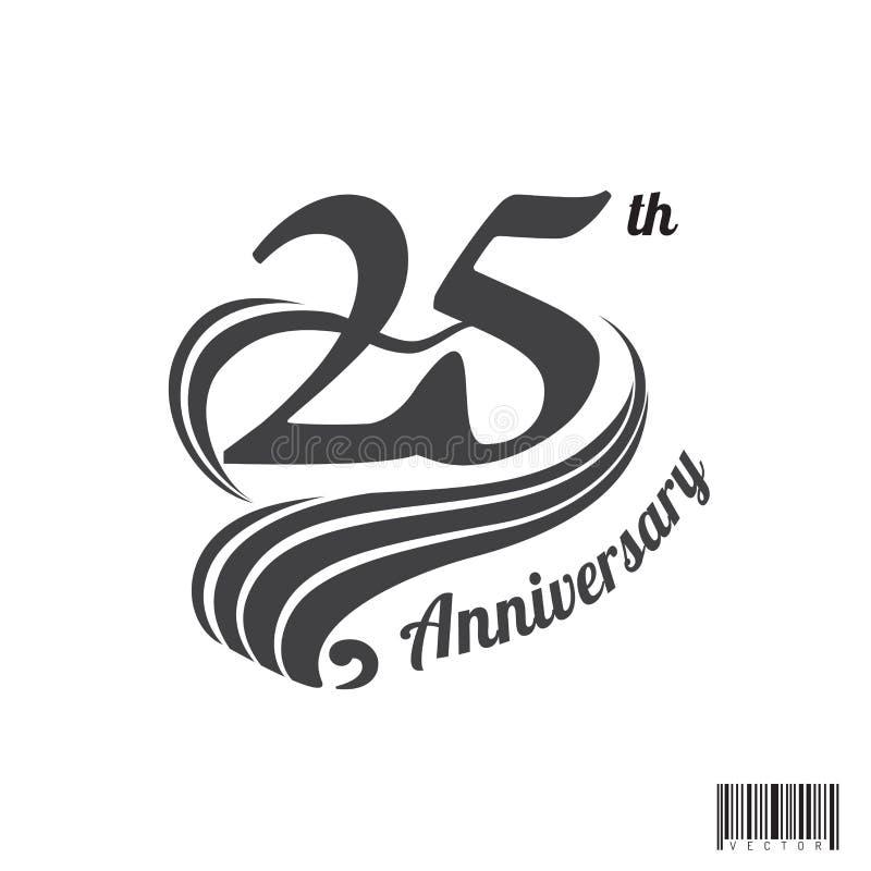 第25个周年商标和标志设计 皇族释放例证