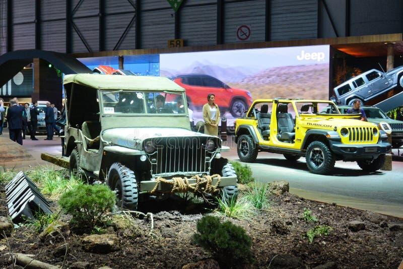 第88个日内瓦国际汽车展示会2018年- 1941年威力斯 库存照片