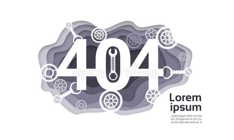第404个问题没被找到的互联网连接错误 库存例证