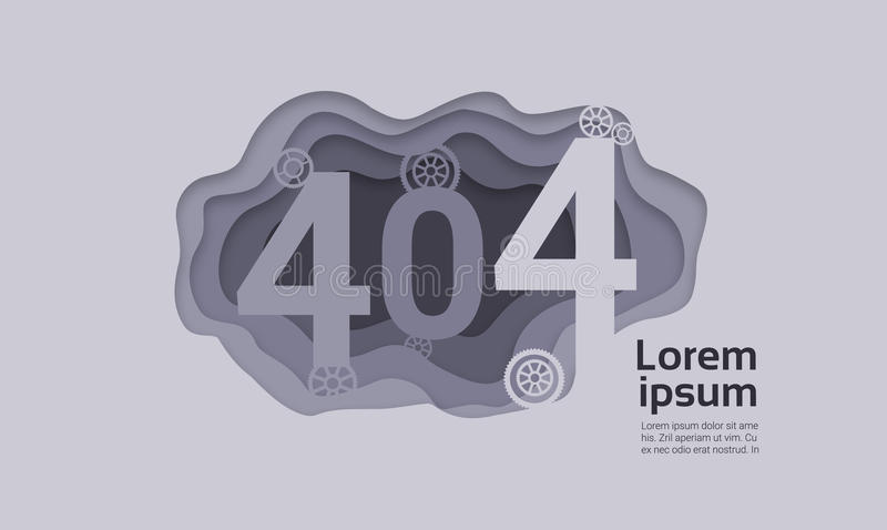 第404个问题没被找到的互联网连接错误 皇族释放例证