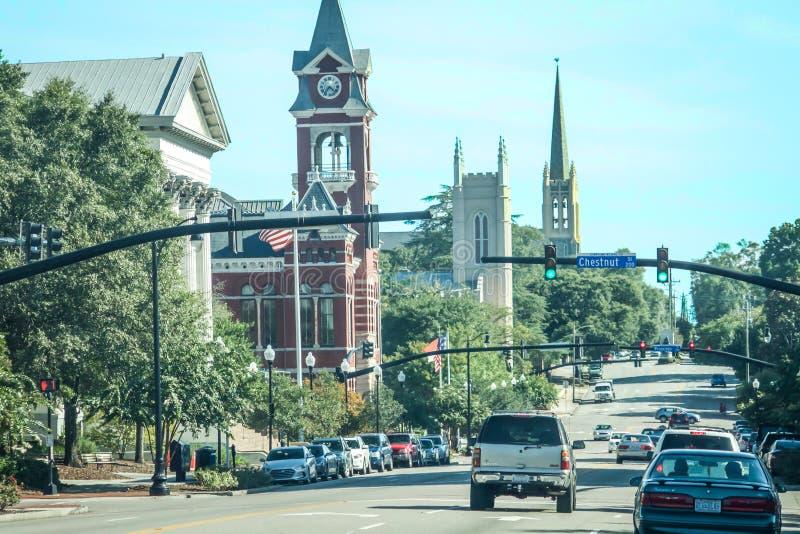 第3个St,在威明顿, NC 免版税库存图片