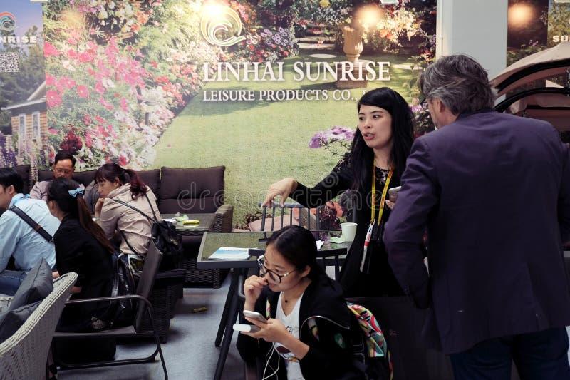 第5 `中国Homelife展示`,华沙,波兰 免版税库存照片