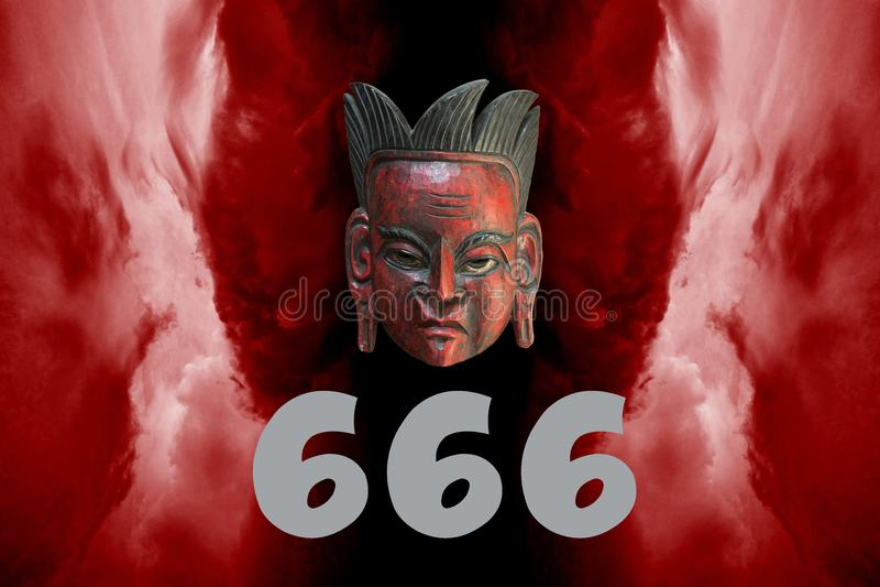第666作为反基督者标志 皇族释放例证