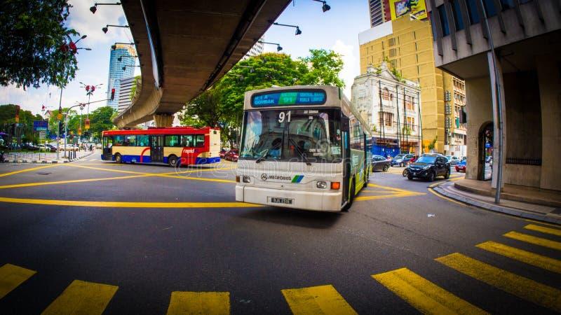第91公共汽车进入连接点 免版税图库摄影