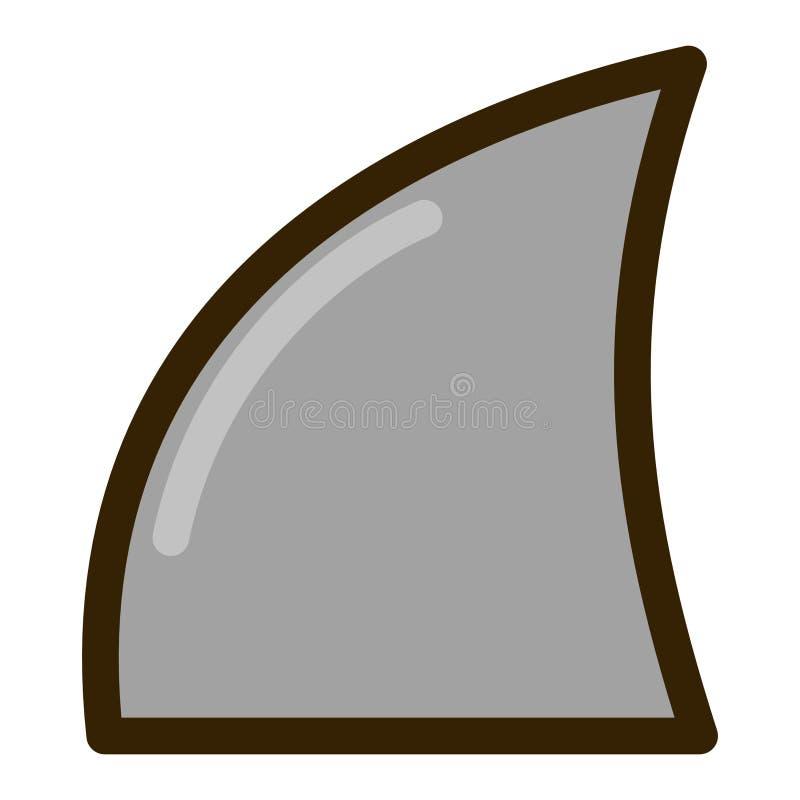 第2动画片鲨鱼飞翅平的设计 免版税图库摄影