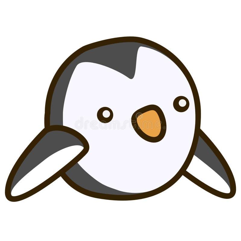 第2只动画片企鹅鸟平的设计 免版税库存图片