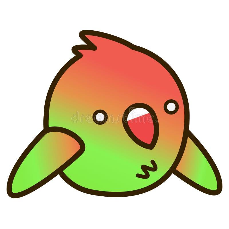 第2只动画片爱鸟平的设计 库存照片
