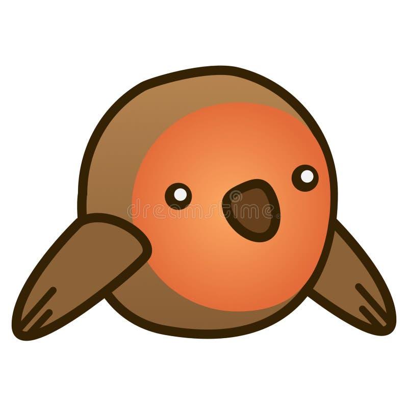 第2只动画片罗宾鸟平的设计 库存图片