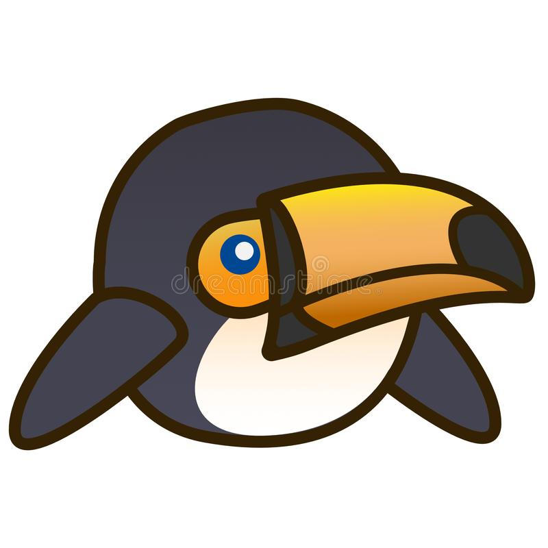 第2只动画片Toucan鸟平的设计 库存图片