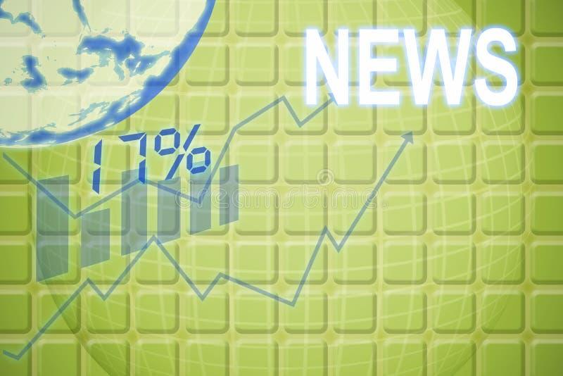 第17和百分率符号的数位引起的图象的综合图象 免版税库存图片