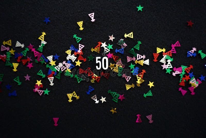 第50和闪耀的党帽子闪烁 库存照片
