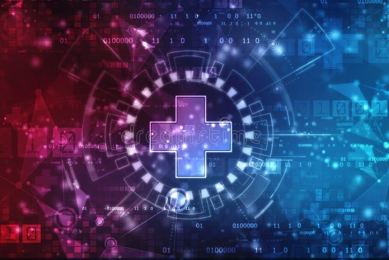 第2回报的加号,医疗和医疗保健概念背景 库存例证