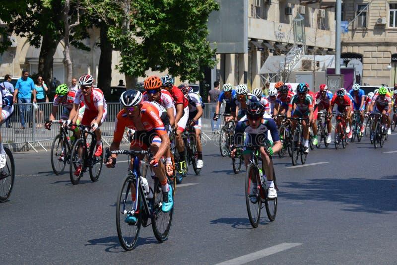 第1场欧洲比赛,巴库,阿塞拜疆 库存图片