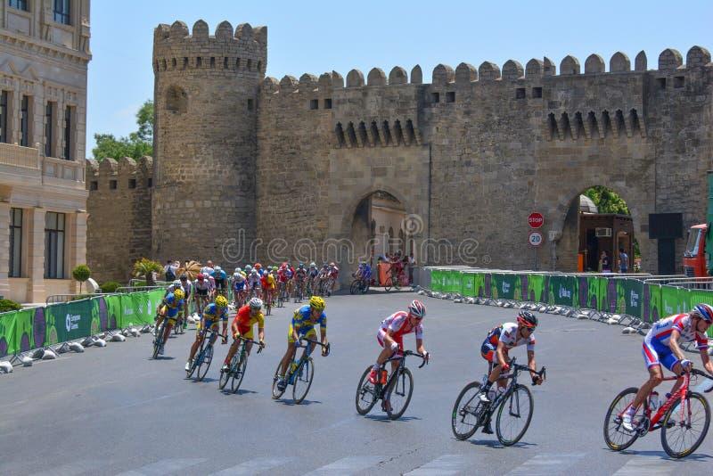 第1场欧洲比赛,巴库,阿塞拜疆 库存照片