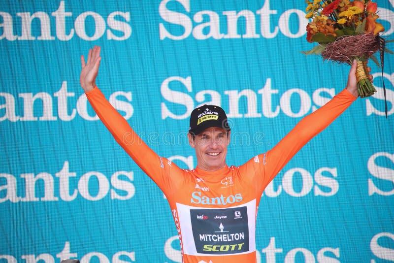 第22届桑托斯在澳大利亚阿德莱德UCI职业自行车赛下巡回赛 免版税库存照片