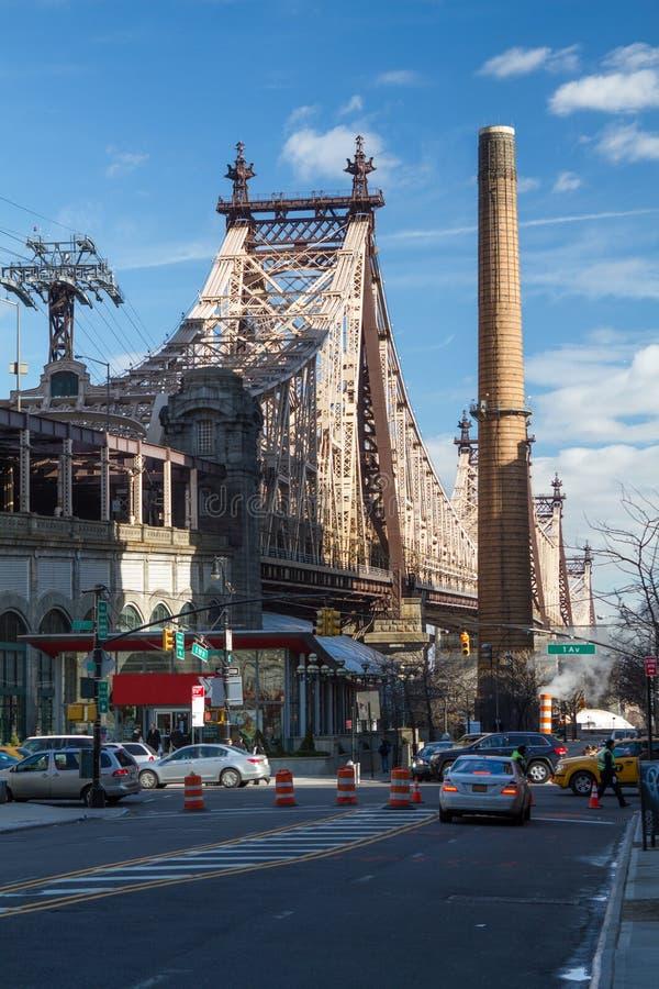 第59 Street/Ed Koch桥梁 免版税图库摄影