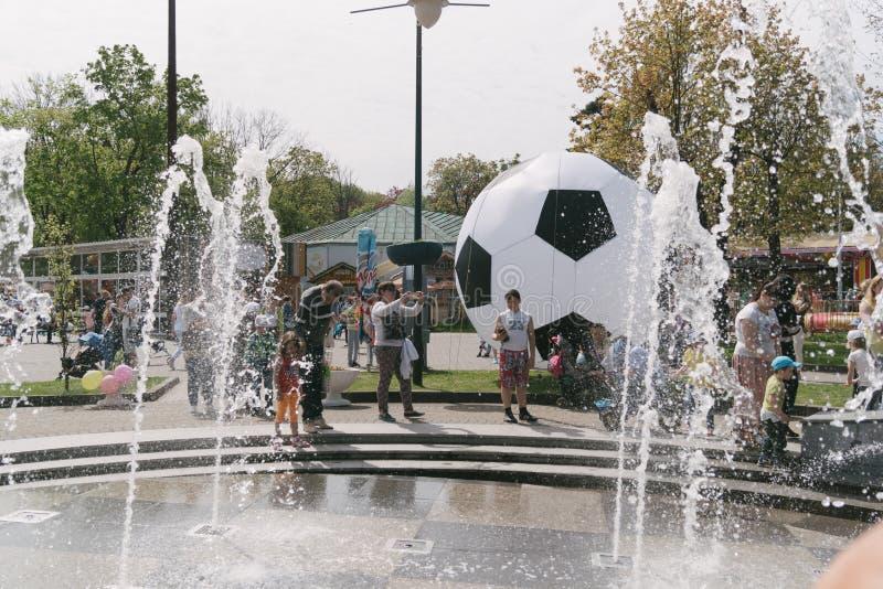 第1 5月庆祝在加里宁格勒,俄罗斯 库存图片