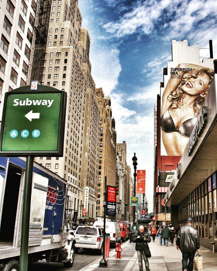 第8条大道,纽约 库存照片