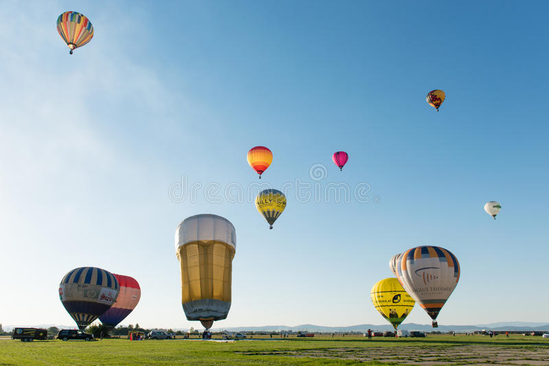 第1气球megafiesta, Piestany,斯洛伐克 图库摄影