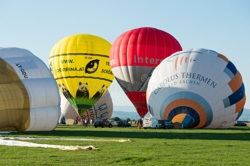 第1气球megafiesta, Piestany,斯洛伐克 库存图片
