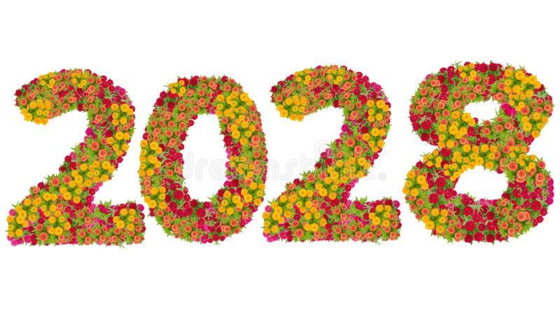 第2028由百日菊属花做了 免版税库存照片
