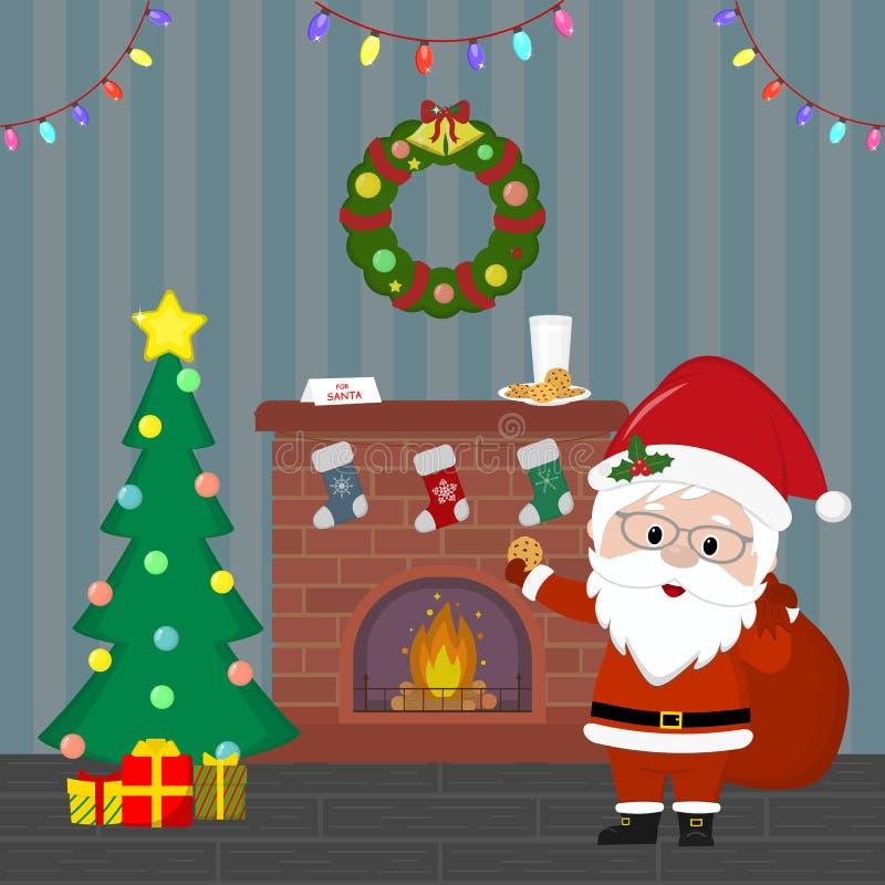 第2看板卡圣诞节计算机designe图象新年度 E r 向量例证