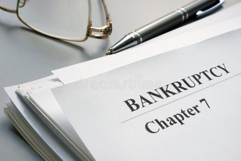 第7章破产请愿和玻璃 免版税库存图片