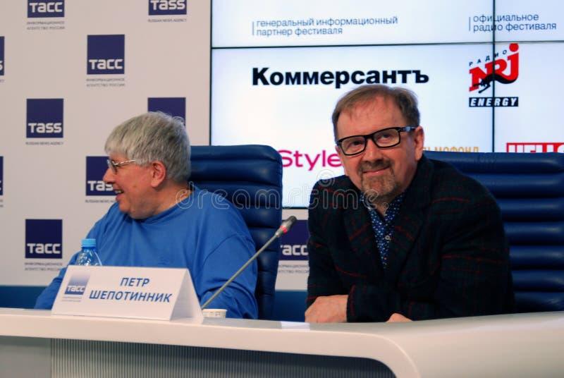 第38莫斯科国际影片竞赛新闻会议  免版税库存图片