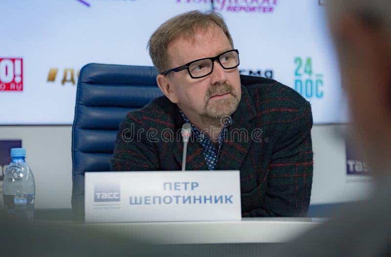 第38莫斯科国际影片竞赛新闻会议  库存图片