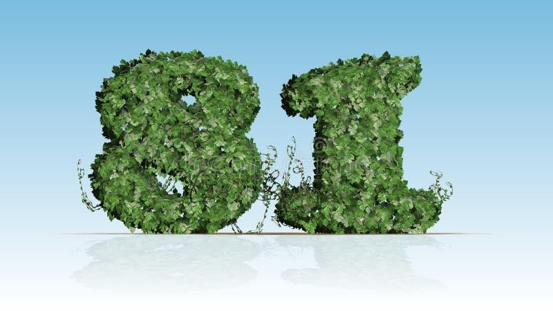 第81被创造绿色常春藤叶子 向量例证