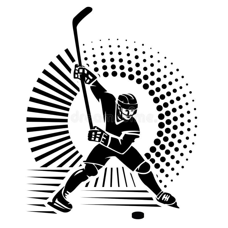 第2 backgroound黑色计算机设计火图象曲棍球运动员样式 库存例证