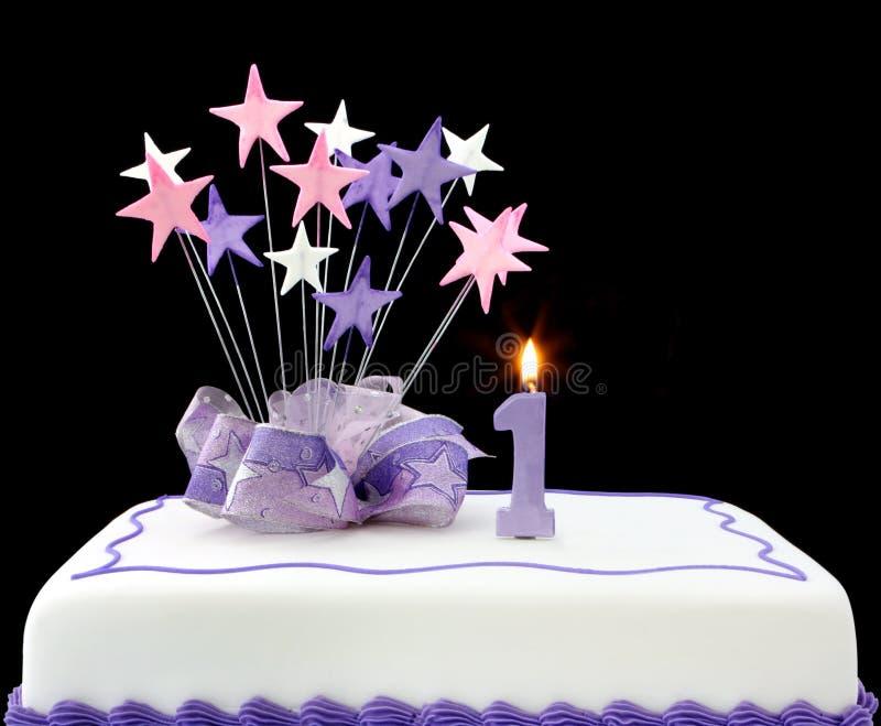 第1个蛋糕 图库摄影