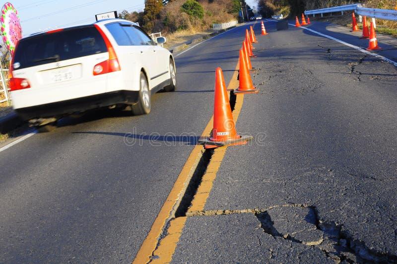 第11次2011年地震日本行军 库存照片