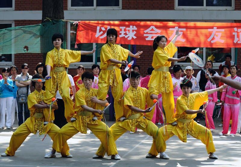 第11球瓷比赛kongfu rouliqiu taiji 库存照片