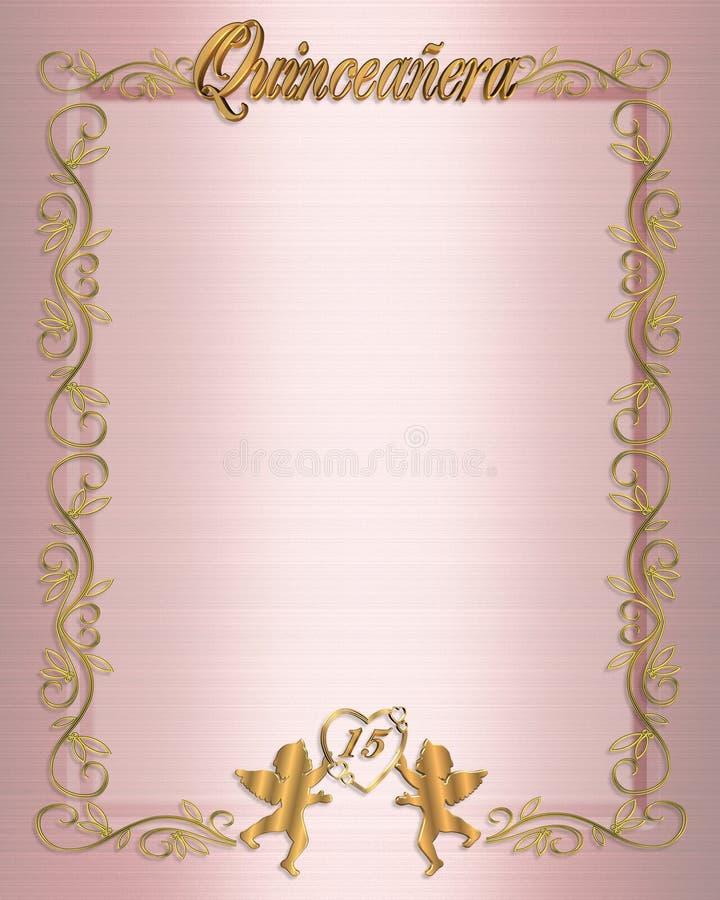 第15生日邀请quinceanera 向量例证