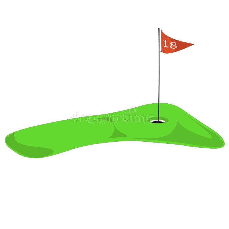 第18个高尔夫球漏洞图象 皇族释放例证