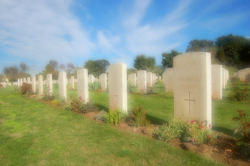 第2场墓地西勒鸠斯战争 免版税库存图片