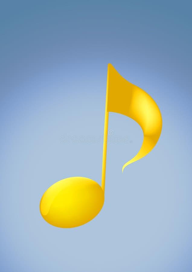 第2金黄音乐附注 向量例证