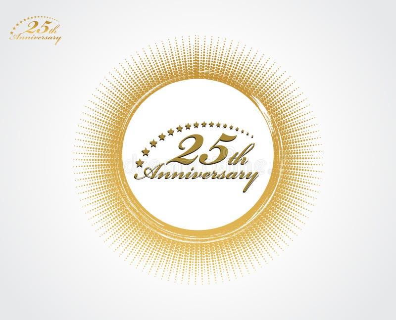 第25周年纪念 向量例证