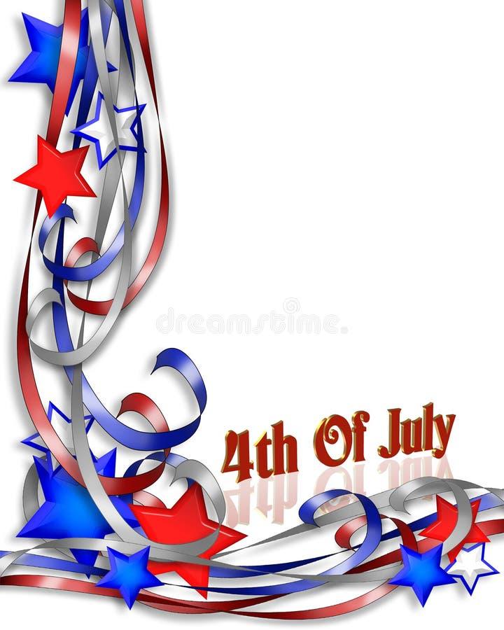 第4个背景边界爱国的7月 向量例证