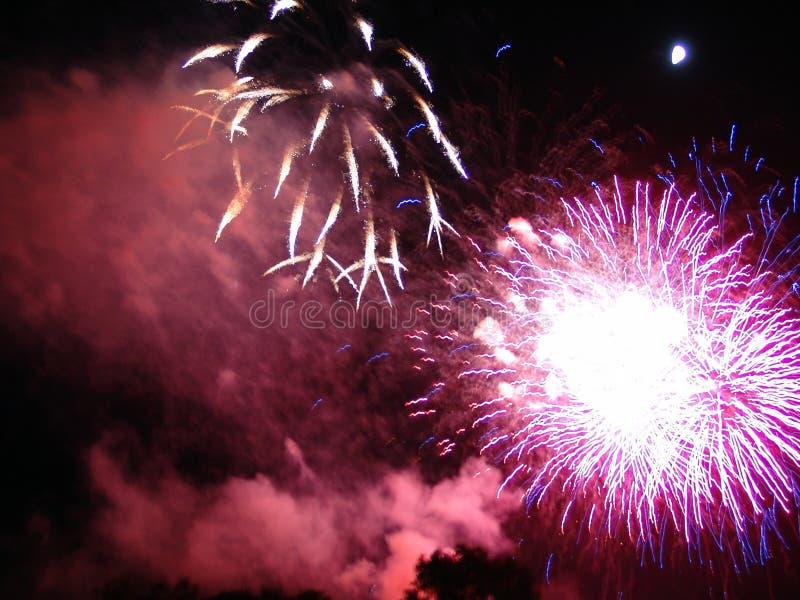 第4庆祝烟花7月美国 免版税库存图片