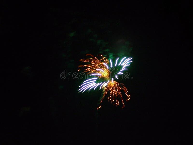 第4庆祝烟花7月美国 免版税库存照片