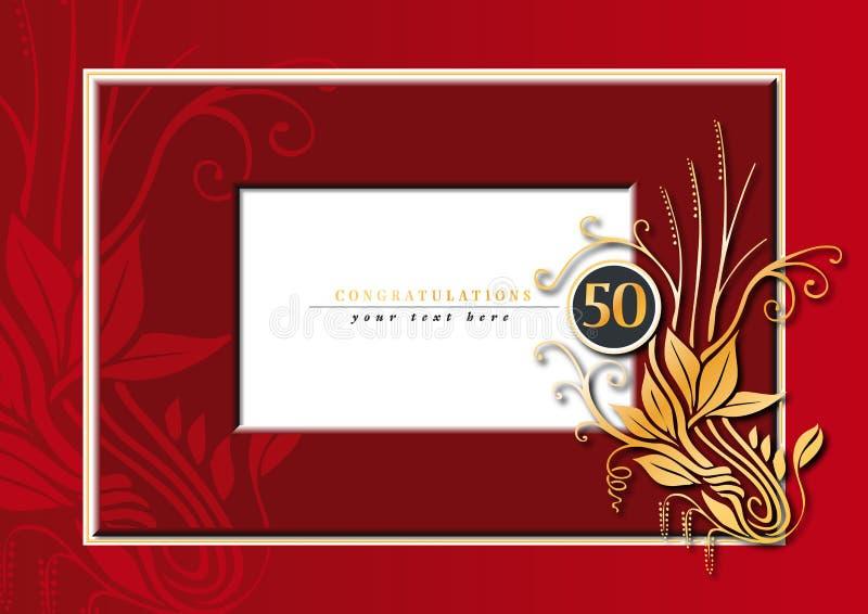 第50周年纪念 皇族释放例证