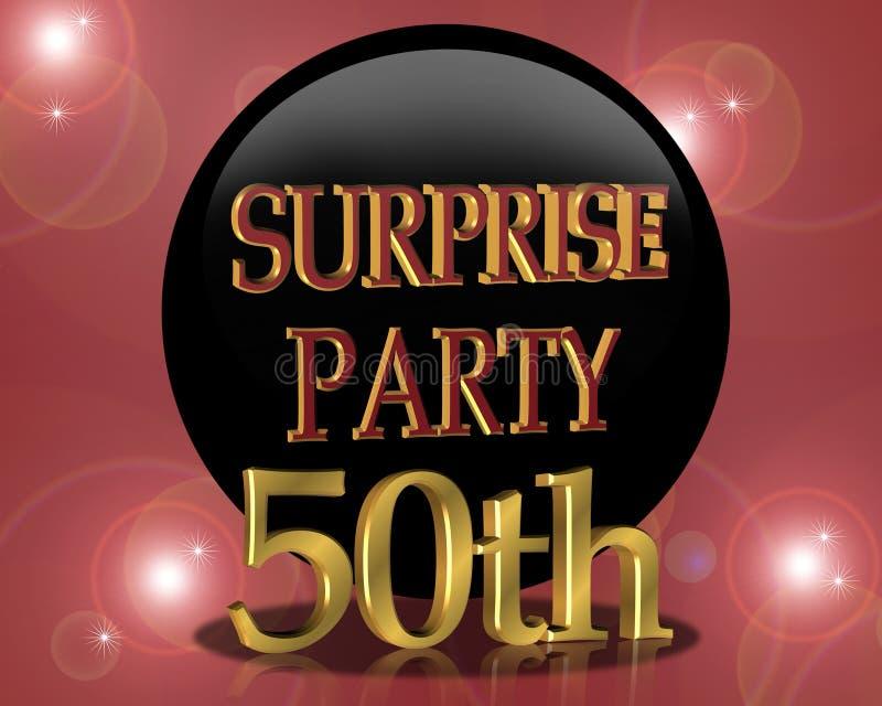 第50生日邀请当事人惊奇 库存例证