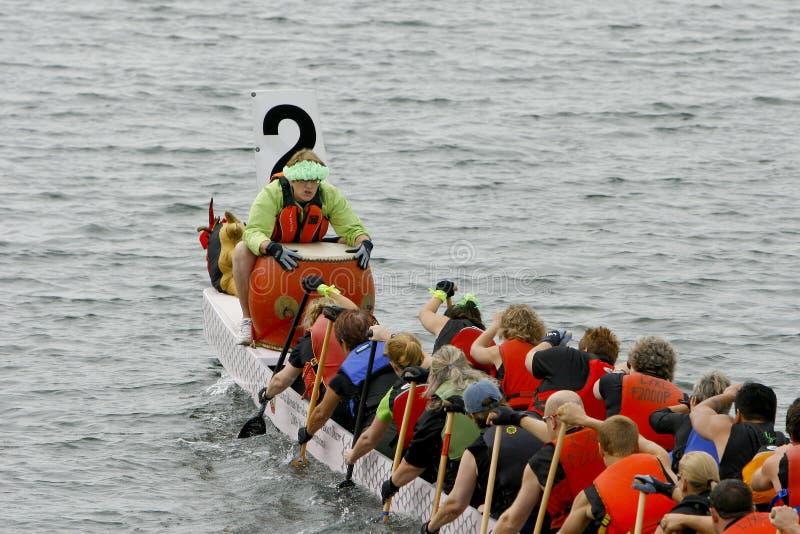 第9条每年小船龙fest峡谷赛船会 库存图片