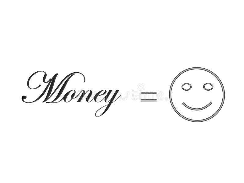 等于幸福货币 皇族释放例证
