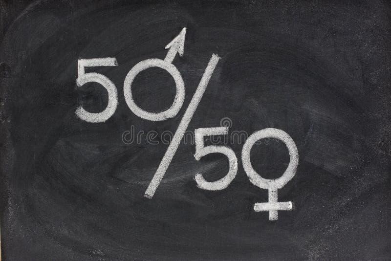 等于性别机会表示 免版税库存照片