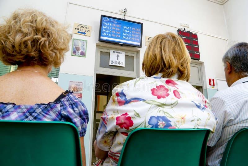 等待在医院的患者 免版税库存照片